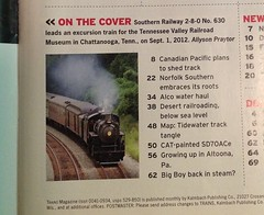 Trains Magazine - March 2013 (Allyson Praytor) Tags: chattanooga march published tennessee railway steam southern locomotive 630 excursion 280 norfolksouthern 2013 trainsmagazine tennesseevalleyrailroadmuseum 21stcenturysteam publishedcoverphoto allysonleighphotography