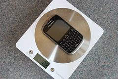BlackBerry Weigh (neals pics) Tags: music kitchen 60s phone blackberry scales curve weight day29 weighing themove day29365 3652013 week5theme 365the2013edition 29jan13