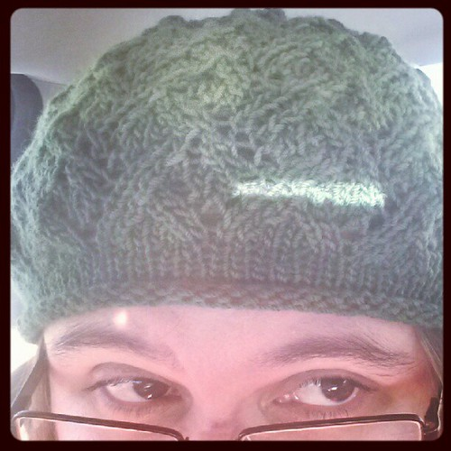 Wearing my #knitted hat this morning.