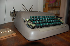 1950's Smith Corona Sterling (gentlemanbeggar) Tags: typewriter vintage portable sterling smithcorona