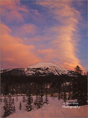 Canadian Rockies Dusk (bretton98) Tags: trees portrait snow canada mountains clouds dusk nopeople alberta redsky lakelouise canon50d bretton98 davidwhitephotography