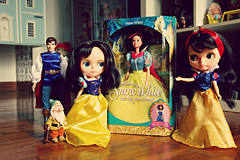 here little panther,you can have her dress if you want !! (girl enchanted) Tags: vintage happy dolls dwarf disney snowwhite 1972 dollies princecharming toyroom kenners dollyroom kennerblythedoll
