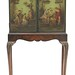 118. Walnut Paint Decorated Cabinet