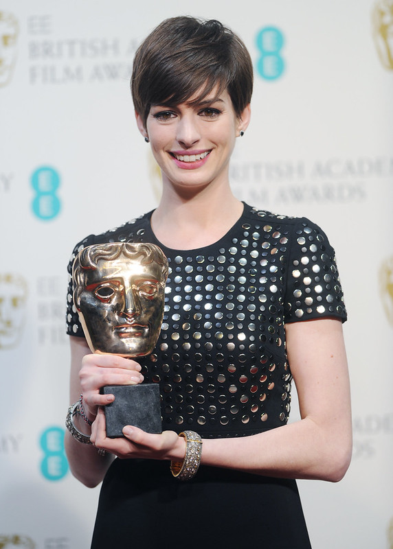 The 2013 EE British Academy Film Awards h Featuring: Anne Hathaway - WENN.com