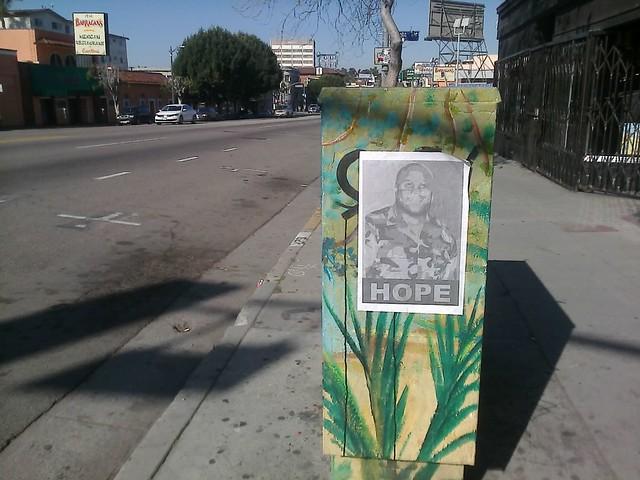 Dorner poster in Echo Park