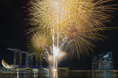 Fireworks at Marina Bay Sands Singapore (David Gn Photography) Tags: park travel reflection tower water museum night buildings river shopping festive restaurant hotel bay office raw skyscrapers display fireworks district central tourist casino celebration business entertainment esplanade promenade boardwalk