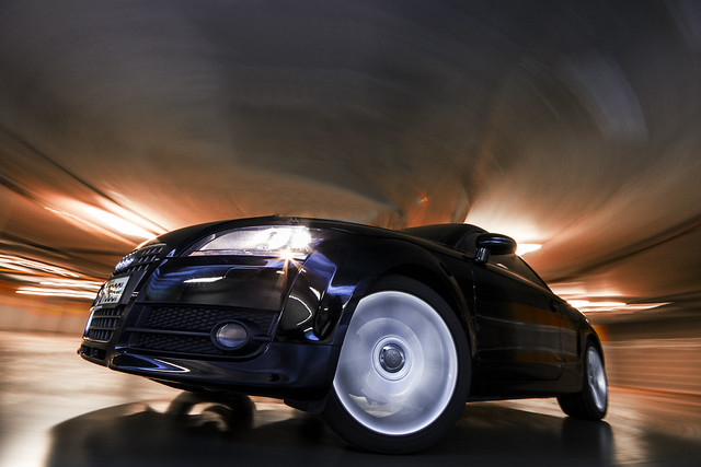 longexposure cars underground carpark auditt lightstreaks automotivephotography rigshot