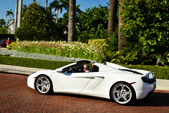 McLaren MP4-12C Spider (Matthew C. Photography) Tags: classic beach race leaving photography hotel spider nikon matthew c convertible palm exotic breakers luxury departing cavallino 2013 d3200 mp412c mclared