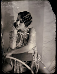 One of us. A series. (Thommy Panic! Photography) Tags: 1920s chicago texture wet sparkles hoop photography waves photographer dress circus finger plate panic freak tintype flapper 20s provocative thommy collodion hulah thommypanic orchidandthebee
