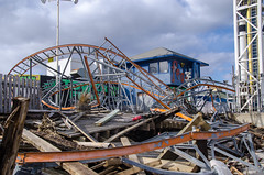 DSC_7420 (Christina Nalio) Tags: beach sand ruins tracks rollercoaster jerseyshore seasidepark funtownpier