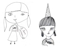 drawing girls 4. (pretty little thieves) Tags: illustration kidsart girlart drawinggirls