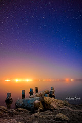 Stars and the Salton Sea (Michael Bandy) Tags: california night stars nikon socal southerncalifornia saltonsea d600 bombaybeach 2485 nikond600 nnikon2485f3545gvr
