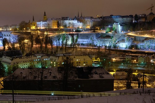 A winter night in Luxembourg City