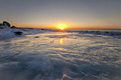 Ice Coast Sunset (Patrick.Giguere) Tags: winter sunset snow canada ice soleil nikon angle quebec hiver wide neige tamron 1024 glasse gaspsie d90 capchat