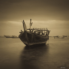 Journey (heshaaam) Tags: longexposure sea bahrain dhow muharraq