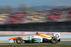 Formula One Testing (SaharaForceIndiaF1Team) Tags: barcelona test spain track action f1 testing formulaone catalunya circuit formula1 sfi1305 jm147