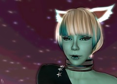 Spacey Kadet Kitty 2 (Kylie Quinn) Tags: space kitty secondlife planets zerogravity virtualworld