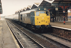 31410 (marcus.45111) Tags: march br 1989 passenger blackpool harwich class31 brblue 31410 exbr