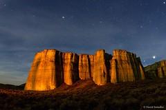 Light Painting (David Swindler (ActionPhotoTours.com)) Tags: rome rock night oregon stars pillars