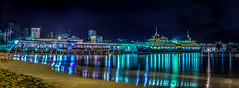 Manly Wharf (Mike Hankey.) Tags: longexposure panorama night lights flickr manly wharf hdr