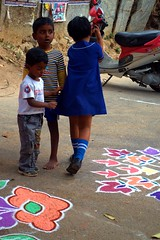12 (akila venkat) Tags: street art colours patterns bangalore rangoli indianart