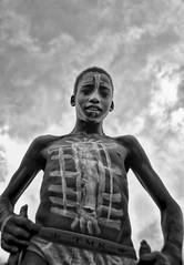 Banna Boy, Ethiopia (Rod Waddington) Tags: africa boy traditional tribal omovalley ethiopia tribe stilts ethiopian banna jinka
