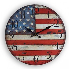 Vintage America Flag Wood Wall Clock - Vanberry.com (greenajoy) Tags: clock vintage cool wallclock vintageclock woodclock