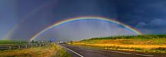 Luz al final del tunel, Peñalba (E) (Panoramyx) Tags: panorama españa regenboog arcoiris rainbow spain zaragoza panoramica aragon espagne arcobaleno hdr spanien regenbogen spagna spanje saragossa arcenciel peñalba espanya aragón saragosse aragona arcdesantmartí aragó aragonien