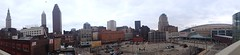 Cleveland, Ohio Panorama (Erik Daniel Drost) Tags: ohio irish building tower st skyline skyscraper key day 5 cleveland terminal arena patricks bp stpatricks towercity stpatricksday theq iphone cavaliers cavs loans terminaltower quicken towercitycenter