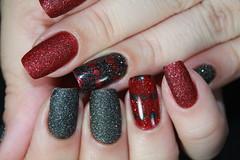 Zoya Pixe Dust Collection (!S .!) Tags: red black sand zoya areia nail mani preto vermelho efeito dust nailpolish liquid lacquer homa esmalte pixe
