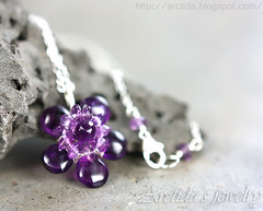 Amethyst necklace wire wrapped in sterling silver - purple gemstone flower. Handmade amethyst jewelry by Arctida. (Arctida) Tags: city wedding summer plants flower cute art classic geometric floral beautiful beauty fashion modern silver woodland wrapping botanical outdoors design necklace petals spring amazing wire woods women pretty purple sweden stockholm gardening handmade witch contemporary crafts gorgeous violet royal crocus jewelry jewellery bridesmaids lilac prom tropical casual accessories sterling amethyst organic chic elegant bridal cleavage spiritual boho sparkly wicca witchcraft couture eclectic bohemian avant garde artisan pendant scandinavian haute pagan genuine gemstone asymmetric photosynthesis arctida