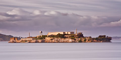The Rock (Ron Rothbart) Tags: sanfrancisco california longexposure water clouds island prison nd alcatraz sanfranciscobay 10stopfilter
