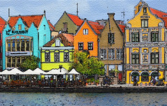 Across the River (Len Radin) Tags: buildings curacao willemstad radin texturize photoshop11 drurydrama ruby5