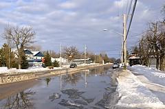 Yesterday in Grunthal (Lispeltuut) Tags: street schnee winter snow canada nikon strasse manitoba thaw grunthal tauwetter schneeschmelze lispeltuut nikond5100