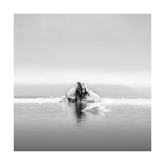 ------^------ (Nick green2012) Tags: iceland ice lagoon square landscape seascape blackandwhite