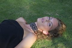 NECKLACE (johoericsson) Tags: blueeyes model swedish swedishgirl beauty shot gras green grass vacation necklace choker leopard