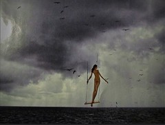 2016-07-19 swing at sea (april-mo) Tags: surreal art collage creative swing seascape woman silhouette
