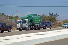 WM Garbage Truck 8-11-16 (2) (Photo Nut 2011) Tags: sandiego california garbage trash sanitation wastedisposal waste junk truck garbagetruck trashtruck refuse wastemanagement wm miramar 105307 peterbilt ford