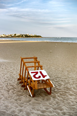 End of Day (DaveLawler) Tags: hampton beach sand lifeguard platform dusk sunset nh newhampshire summer vacation