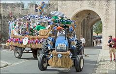 46me Fte de la Moisson  Provins (77) (GK Sens-Yonne) Tags: ftedelamoisson char dfil tracteur remorque fleurs bl seineetmarne provins harmonie musique musiciens harmoniemunicipale
