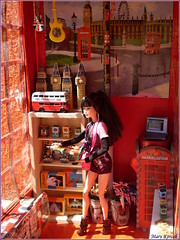 Lea in London (barbie for Mary) Tags: london life kayla lea barbie england great britain big ban telephone booth double decker fashion diorama
