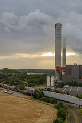 Guten Morgen, Kraftwerk Weisweiler (G_Albrecht) Tags: industrie rwe sonne sonnenaufgang sonnenschein umwelt wetter