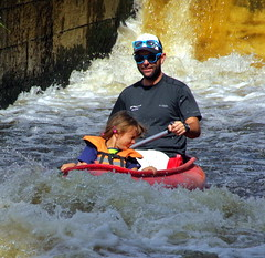 23.8.16 Vyssi Brod Weir 054 (donald judge) Tags: czech republic south bohemia vyssi brod weir boats rafts canoes river vltava