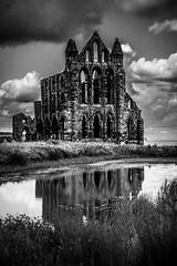 reflection (pamelaadam) Tags: geolat54488335 geolon0607873 whitby engerlandshire building kirk abbey whitbyabbey faith spirituality august summer 2016 holiday2016 digital fotolog thebiggestgroup bw