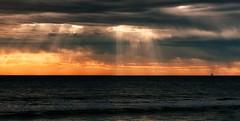 Glenelg Beach, 27th August, 2013, 4:36pm (SeeminglySane) Tags: beach ocean sunset sunsets southaustralia waves wave golden hour goldenhour nikon d750 clouds storm