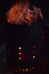 016 (dena429) Tags: fire firestarter chimney orange hotcoals flames orangeblack hot redhot charcoal black whispy ghostly dancingflames
