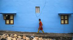 Colors (Ramkumar Radhakrishnan) Tags: cwc544 chennaiweekendclickers cwc chettupuniyam colors yellow blue bluewindow chengalpet redchudithar girl lonely yellowdots