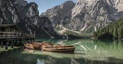 Lago di Braies (Mariusz Marszaek) Tags: lago di braies italy dolomites wildsee lake boat mountains nikon d5300 wochy jezioro d 18105 water