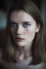 (Marteline Nystad) Tags: freckles color window light natural nomakeup portrait expressive eyes