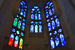 La Sagrada Familia (Flyte.) Tags: barcelona sagradafamilia windows colors colorful gaud gaudi impressive architecture light huge beauty beautiful church basilica cathedral religion christian genius art catalonia catalunya holidays photography nikon inside building